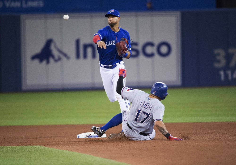 The Toronto Blue Jays have sent struggling infielder Lourdes Gurriel Jr. down to triple-A Buffalo. Photo: Nick Turchiao/USA Today Sports