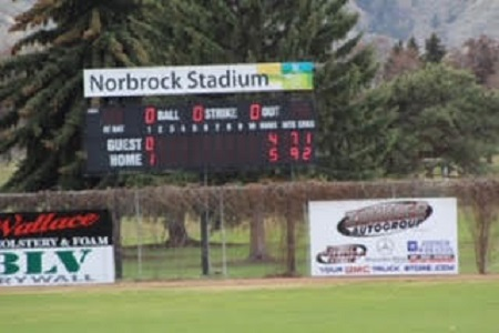 The scoreboard at Norbrock Stadium tells the story, a 5-4 win in 11 innings.