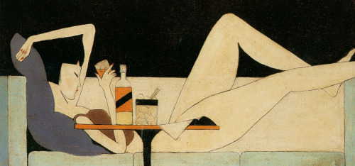 Pang Xunqin | Chinese | 1906-1985   The Girl on the Couch  | 1930