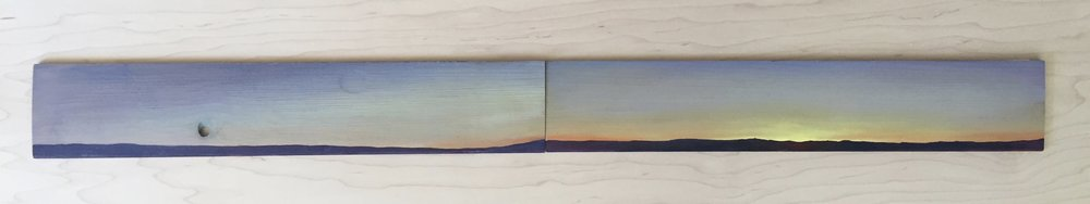 In my mind's eye I & II  oil on wood  2012