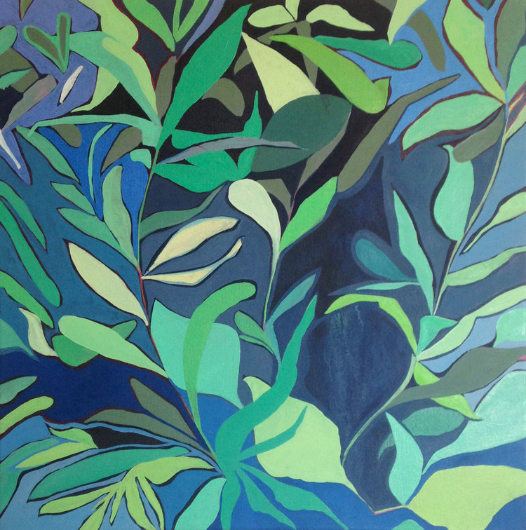 foliage: blue II  oil on canvas   sold