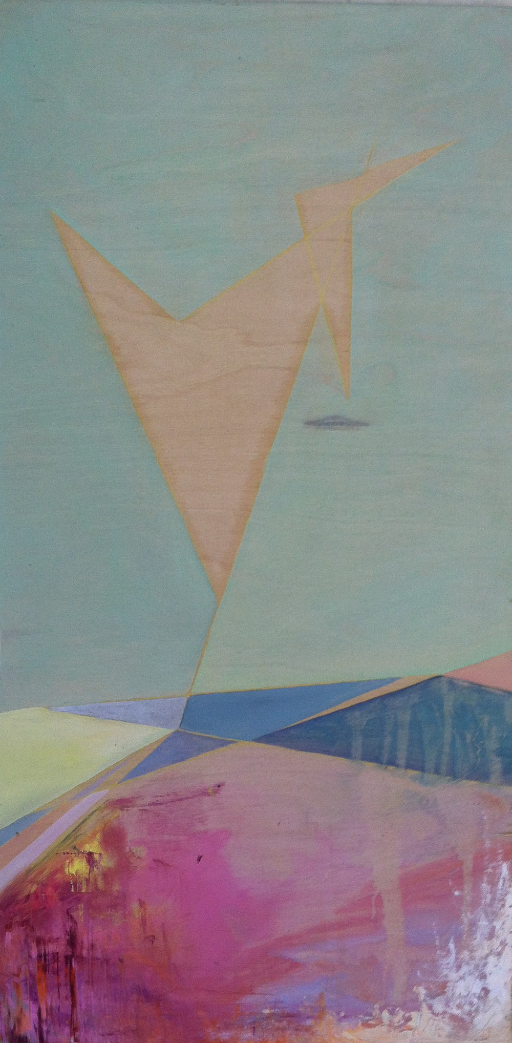 land angles: someday soon  oil on wood  2012   sold