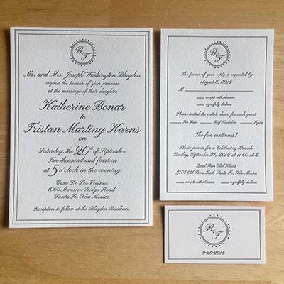 Blagden Karns Wedding Invitation