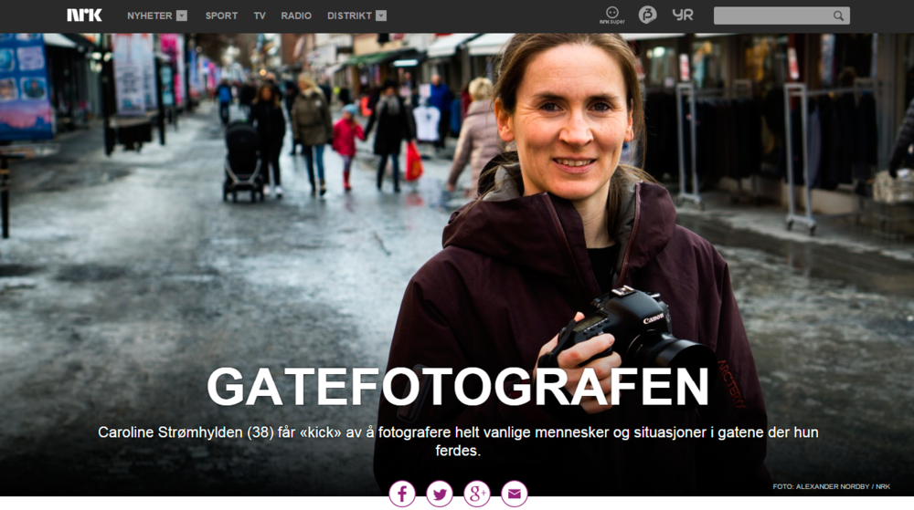 NRK (Norwegian Broadcasting Services) made an article about street photography. Published 22.03.2015