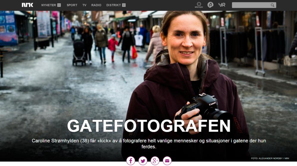 NRK - artikkel om gatefotografi. Publisert 22.03.2015