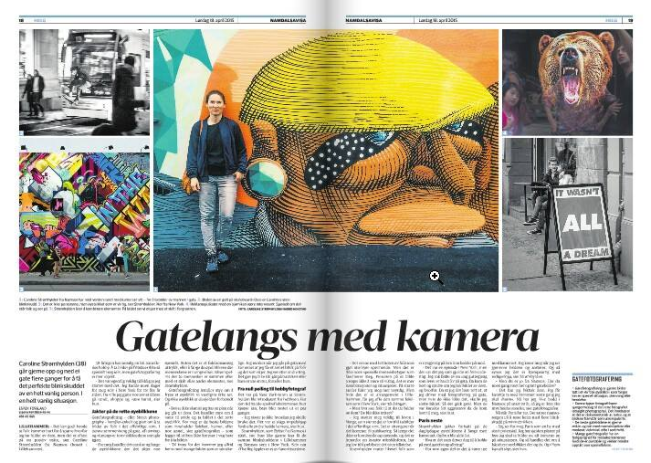 Namdalsavisa made an article about street photography 18.04.2015