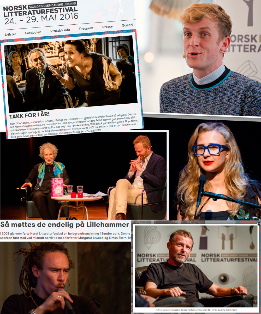 Some of my photos posted by The Norwegian Festival of Litterature
