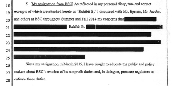 The  suppressed evidence  includes my description to the judge of my internal whistleblowing.