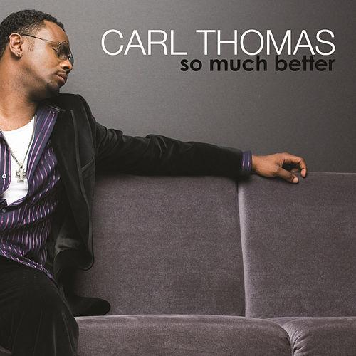 The king Carl Thomas has the loneliest of lonely gazes on  this album cover. He's sitting on a plush (is that velvet??) couch while lonely gazing into where his life was So Much Better when she was sitting next to him. Ouch.