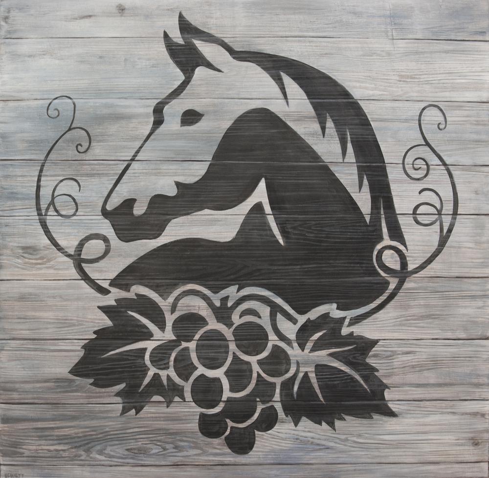 Wölffer Horse Logo Painting