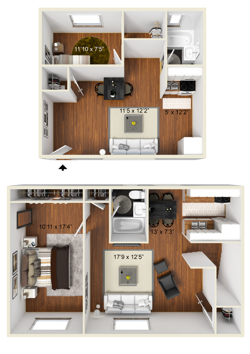 CJ Lombardo-Essex St Gardens-Small 1 bedroom, One bedroom 3D Furnished.jpg