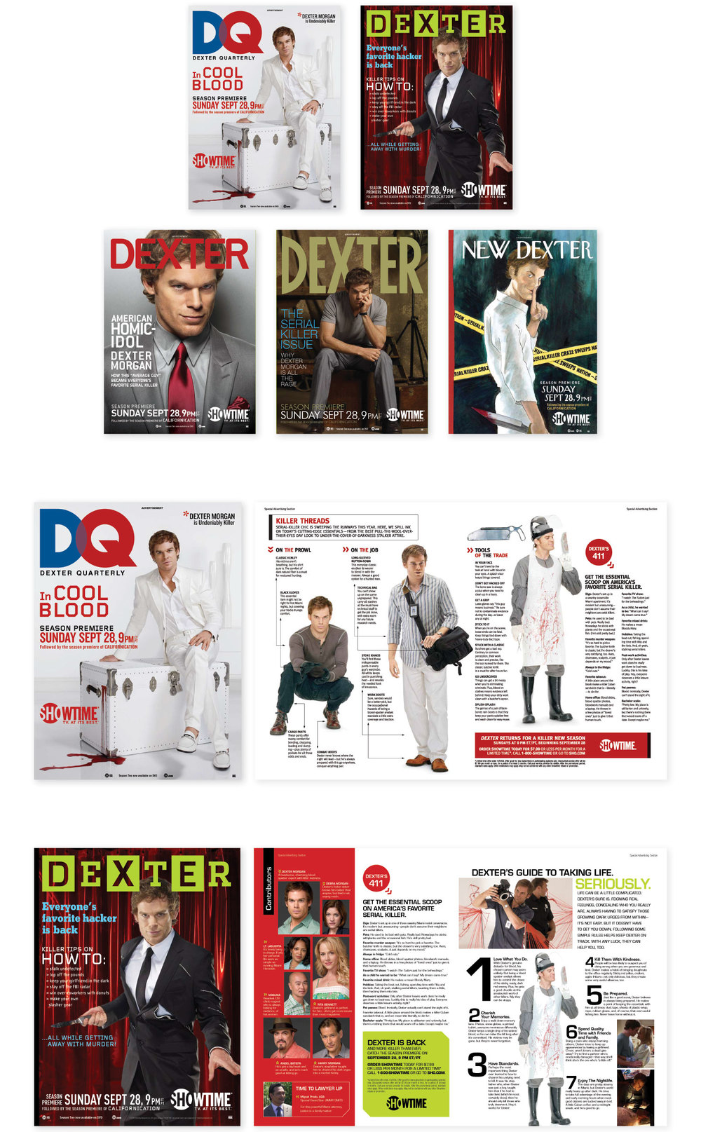 Showtime — ginny rushen • print + digital art director