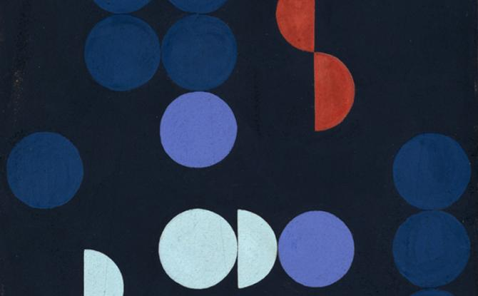 Sophie Taeubson-Arp, composition of circles and semicirlces 1935