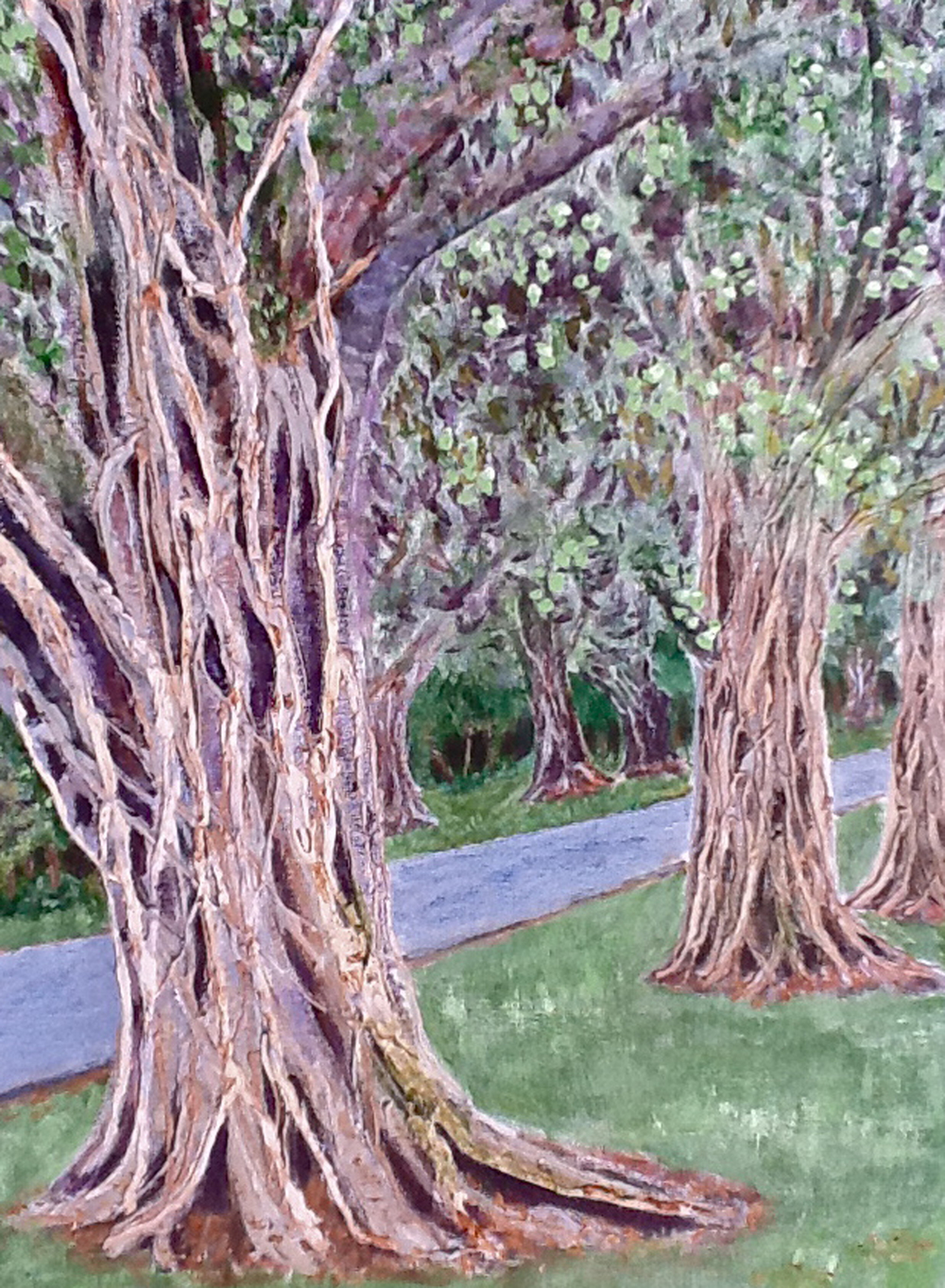 Mighty Banyan Trees (acrylic)