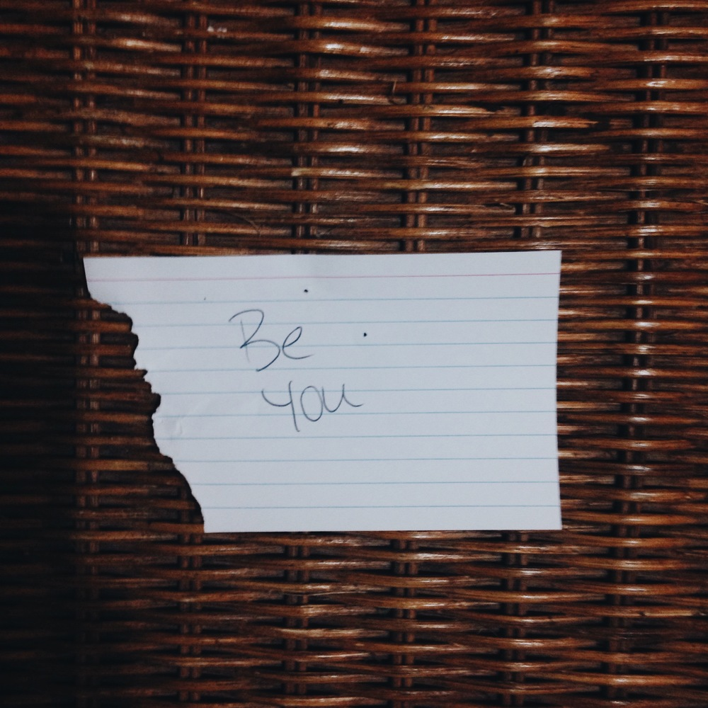 Be you. (*sorry about the rip on this card; J's dog bit the board after the meet.)