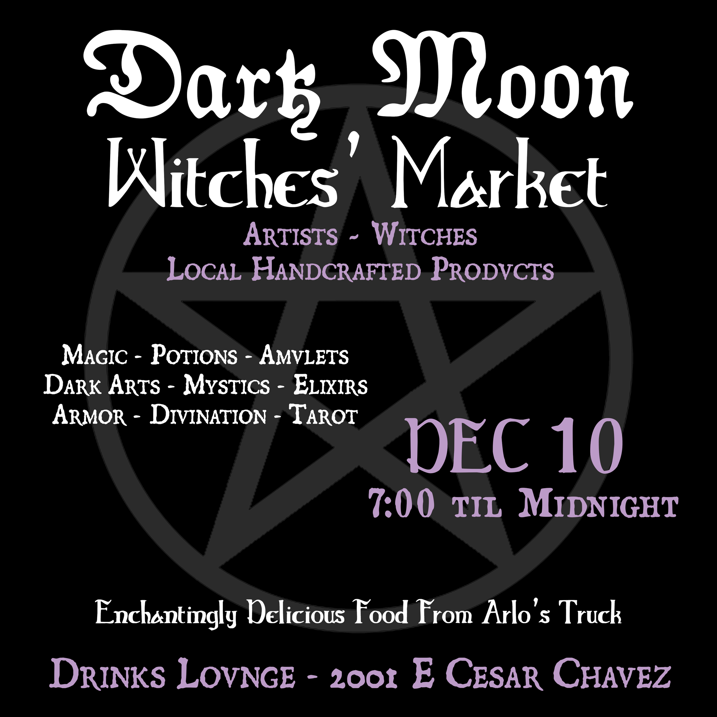 Witches Instagram Flyer