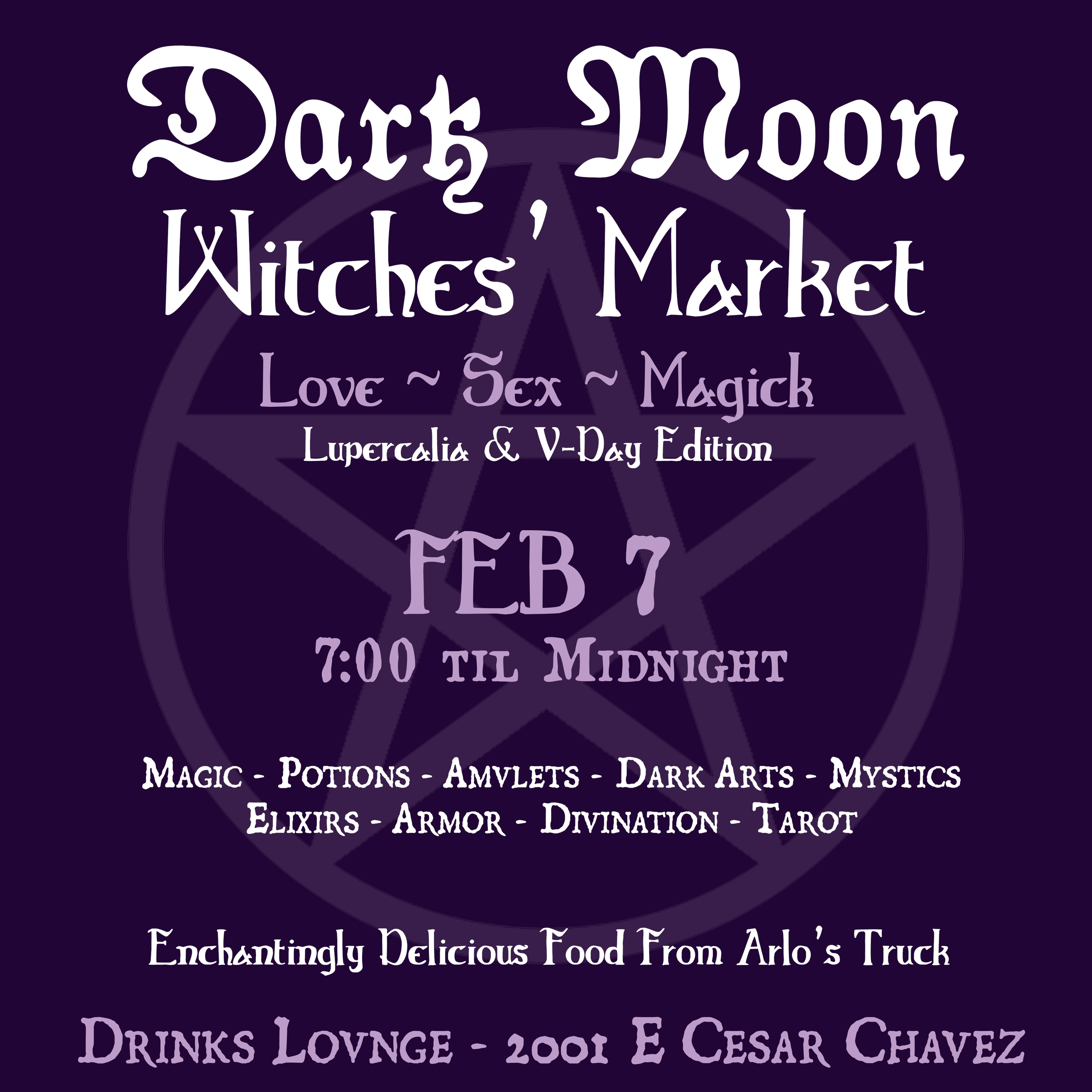 February 7th  Dark Moon Insta Flyer