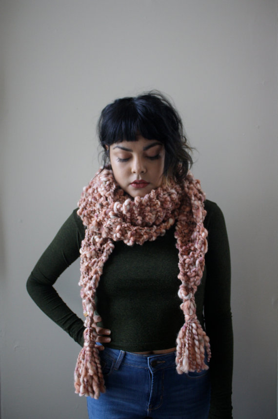 The Be BRIGHT scarf by Nessavendetta, $58