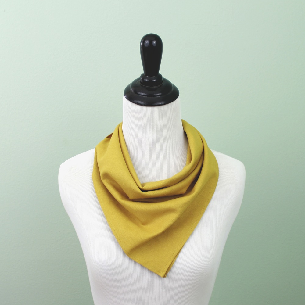 The Mustard Linen Bandana by Fox & Brie, $35