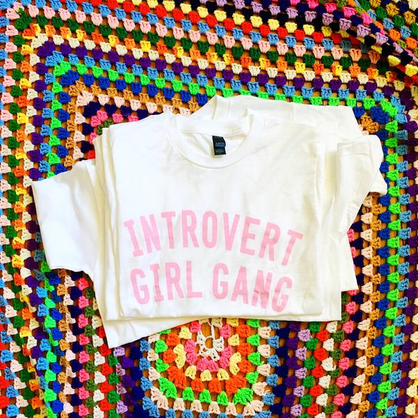 "The ""Introvert Girl Gang"" T-Shirt by Luella, $26"