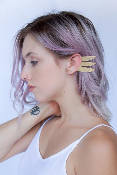 The Gatherer Ear Cuff by Psyche Jewelry, $76