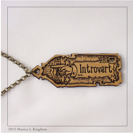 The Introvert Pendant by Monica L Knighton, $15