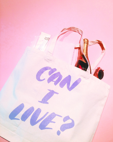 "The ""Can I Live?"" Tote by Eythink, $27"