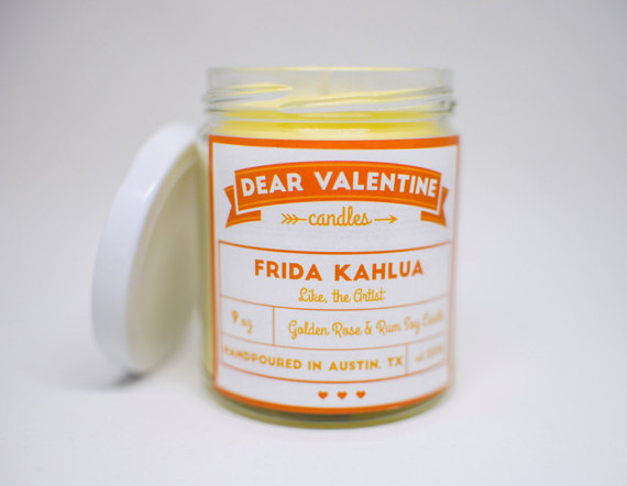The Frida Kahlua Soy Candle by DearValentineCandles, $14