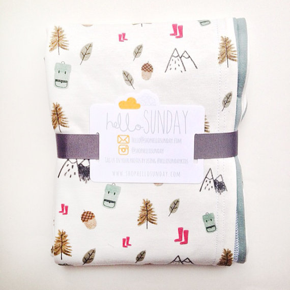 The Woodland Explorer Organic Baby & Toddler Blanket by Hello Sunday, $50