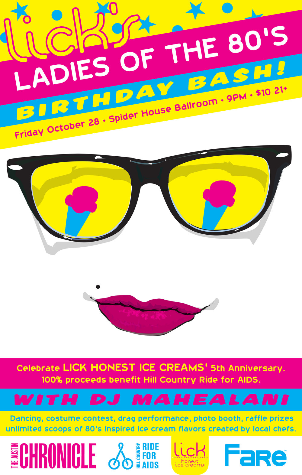 oct 28th lick s ladies of the 80s birthday bash bossbabesatx