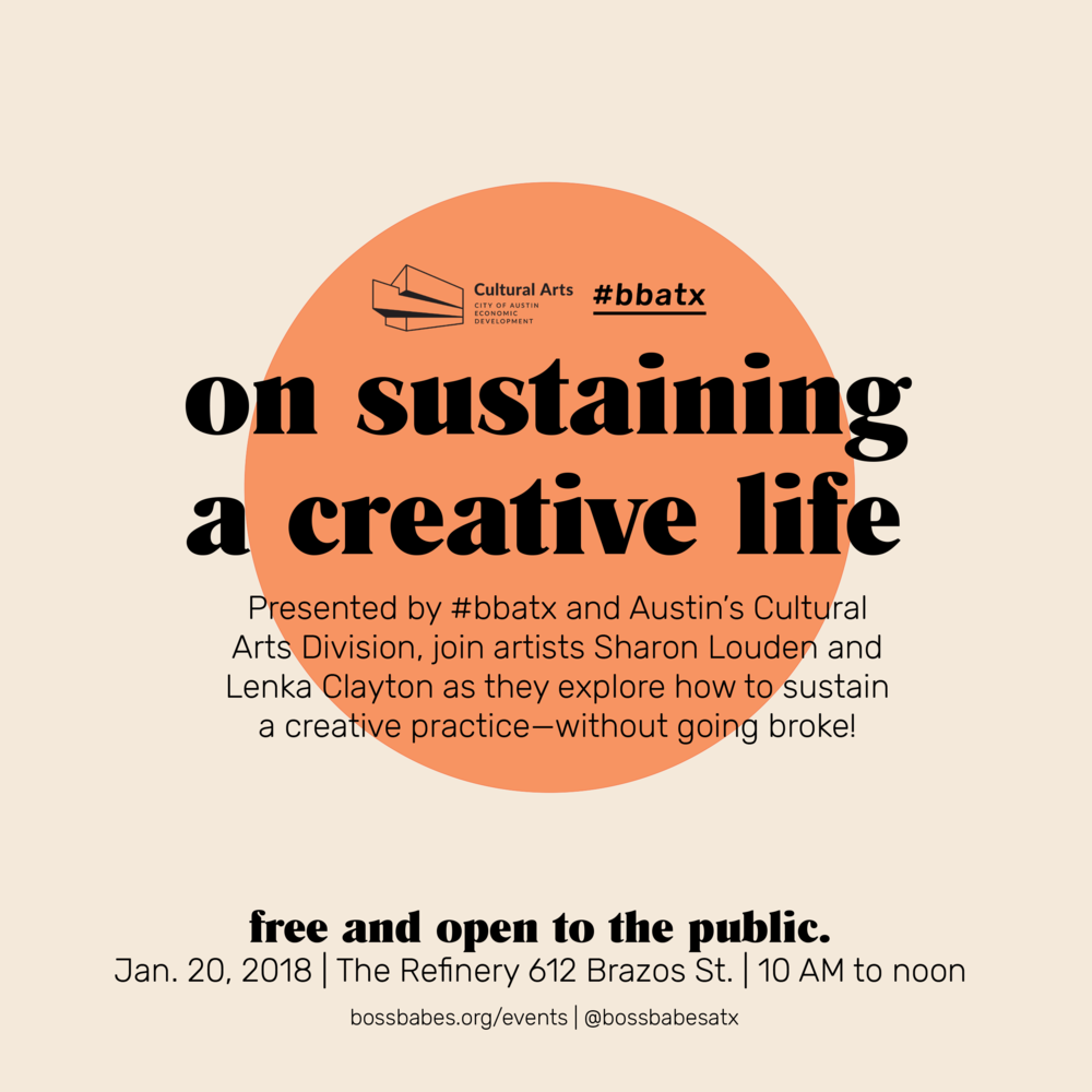edf7e1d2592  bbatx and the City of Austin s Cultural Arts Division invite you to join a  community conversation with practicing artist Lenka Clayton and artist