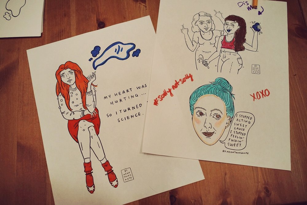 Pictured: Illustrations by Mean Thing Kate