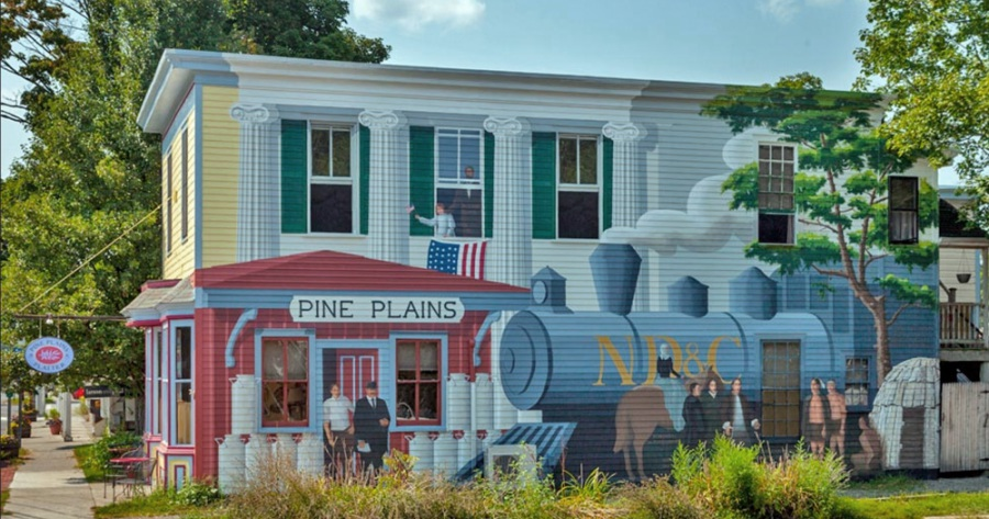 The Emporium sits almost directly across the street from the Pine Plains Platter.  The 1879 building is the exact location of the original Chase Dry Goods General store which was a key in Pine Plains' town center.