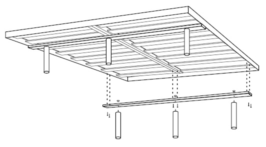 Standalone Axel Bloom Suspension without Box Spring but with Supportive Feet