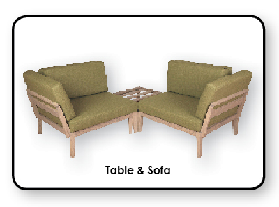 Axel Bloom Table & Sofa