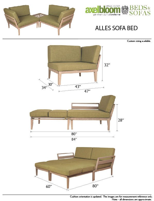 Axel Bloom Alles Sofa Bed