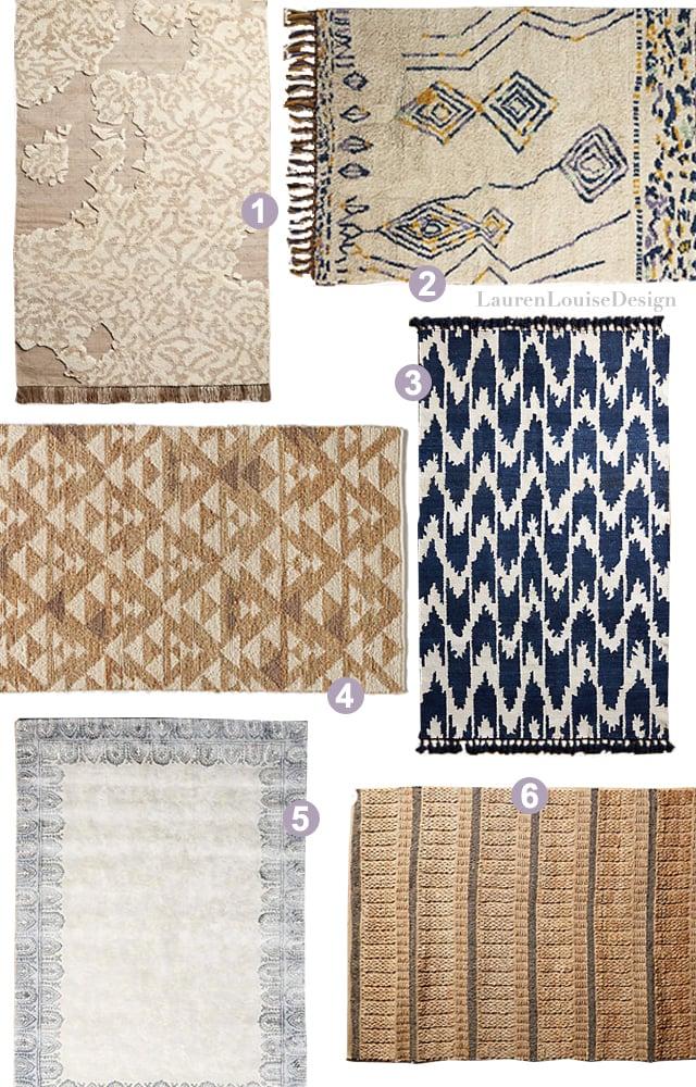 1 |  Pangea Rug , 2 |  Mengaso Rug , 3 |  Silk Ikat Rug , 4 |  Woven Arrowhead Rug , 5 |  Melati Rug , 6 |  Kusari Rug