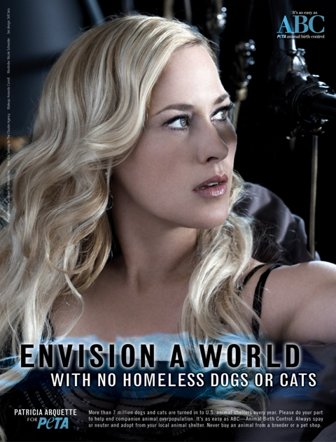 Patricia Arquette for PeTA Photo: Andrew Southam