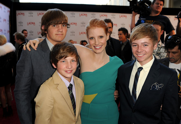 "Tye Sheridan, Laramie Eppler and Hunter McCracken at the premiere of ""Tree of Life"""