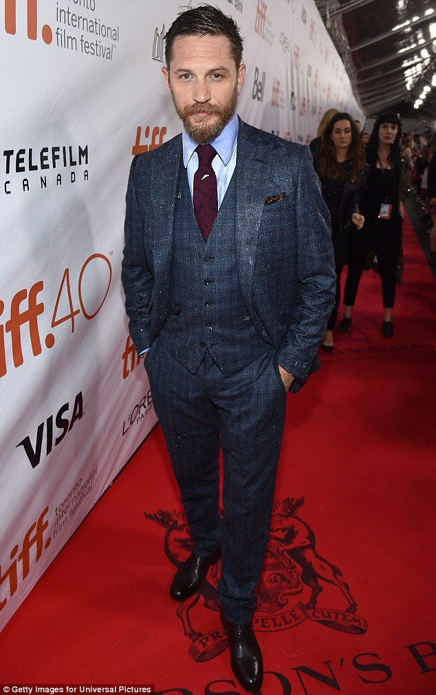 "Tom Hardy at Toronto International Film Festival premiere of ""Legend"""