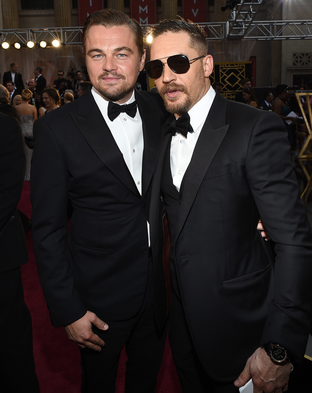 Tom Hardy, Best Supporting Actor  Nominee at the Oscars  wearing Gucci