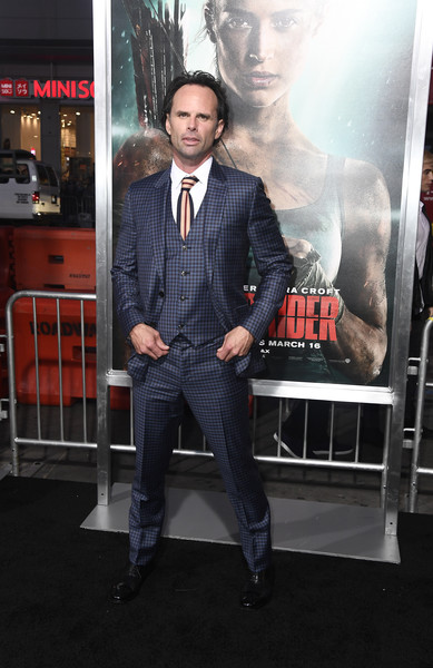 "Walton Goggins at the ""Tombraider"" premiere"