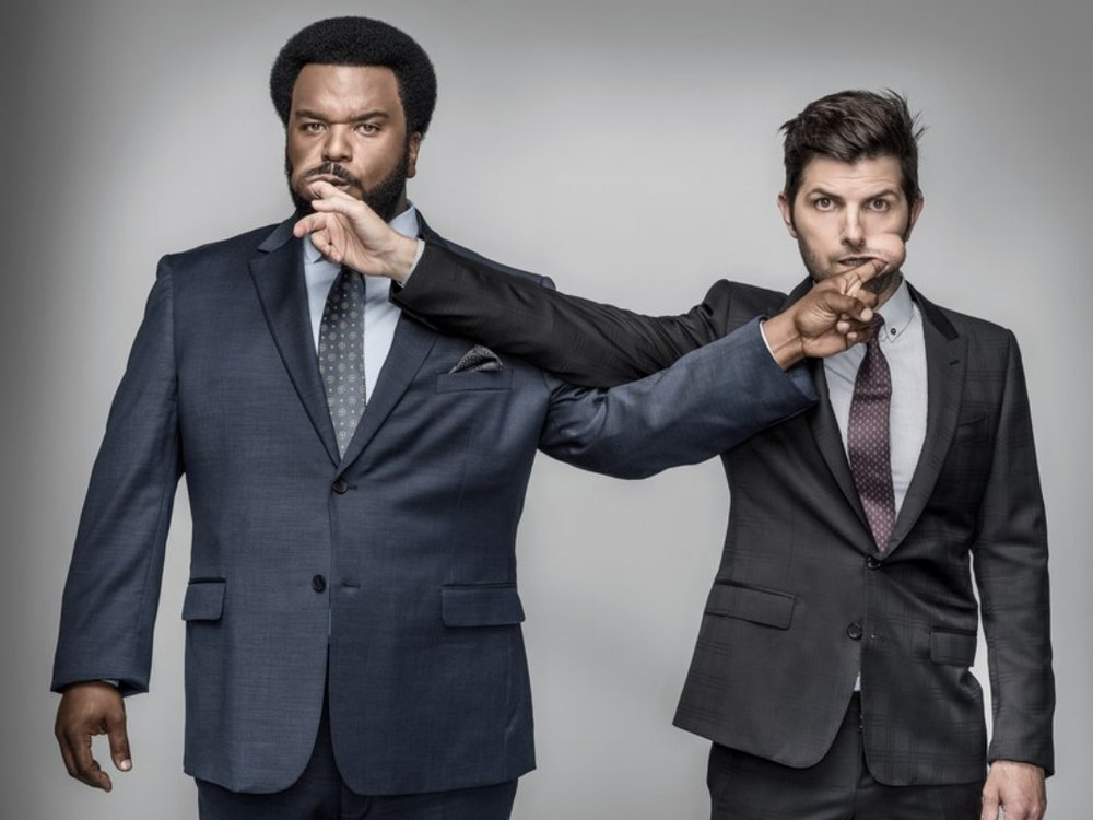 Craig Robinson and Adam Scott for GQ  Photo: Dan Winters