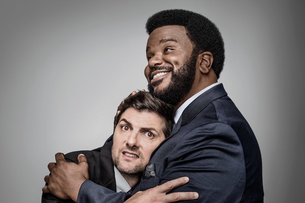Adam Scott and Craig Robinson for GQ  Photo: Dan Winters