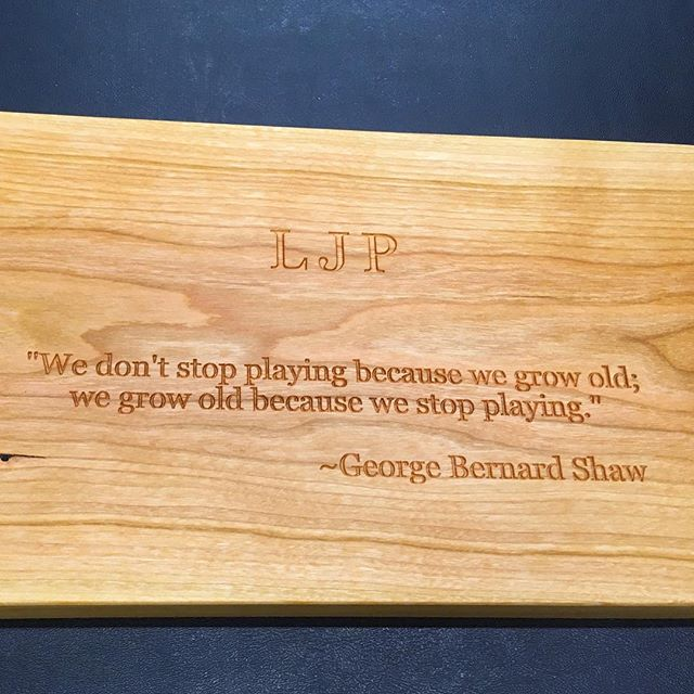 """It's fun to see what people come up with to engrave on their gifts, from names and dates, or """"Merry Christmas """", to inside jokes. It makes a really special gift! . #personalizedgifts #shopsmall #games"""