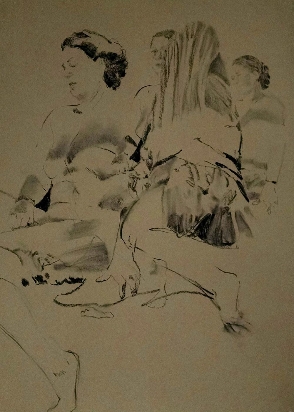 Figuration I, Charcoal on Paper