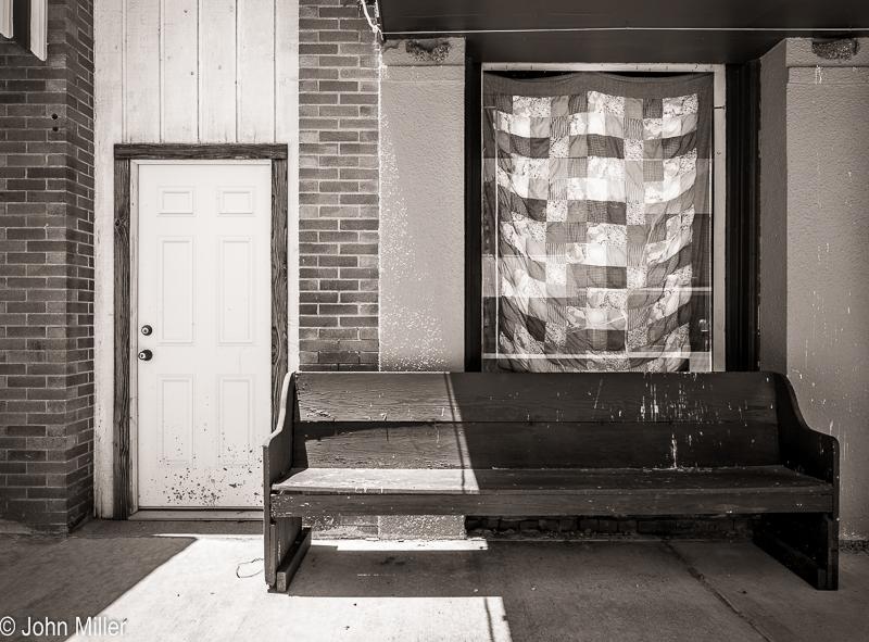 Door, Bench, Quilt