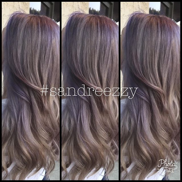 Lavender hair by @sandreezzy