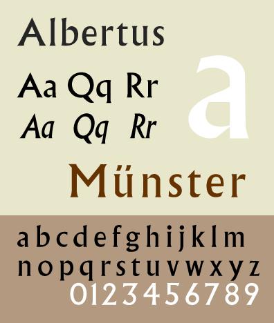 Albertus type specimen