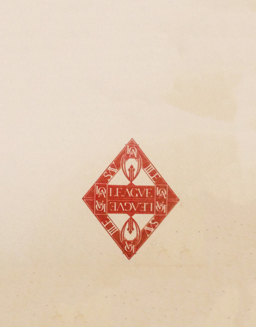 Saville League mark on the back of Fac.33.